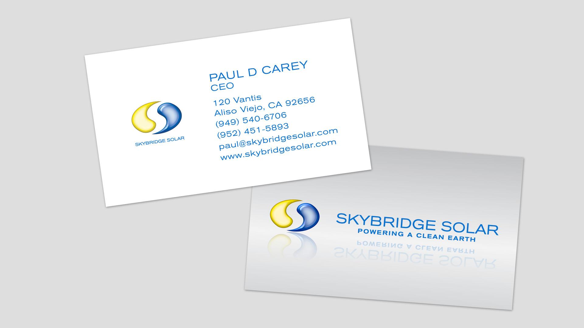 Skybridge Solar Business Card