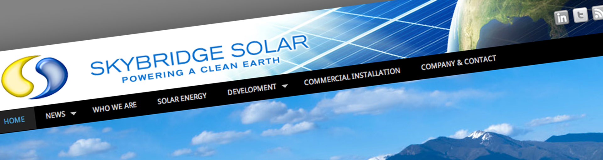 Skybridge Solar Website Header