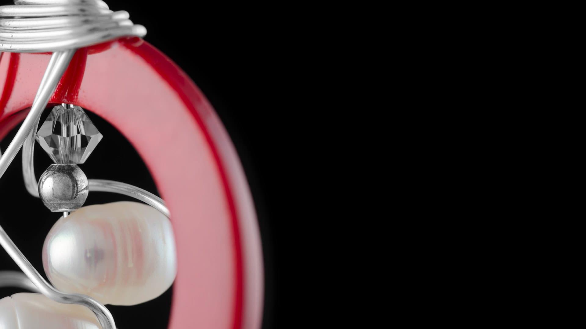 Artist Portfolio Red Pendant