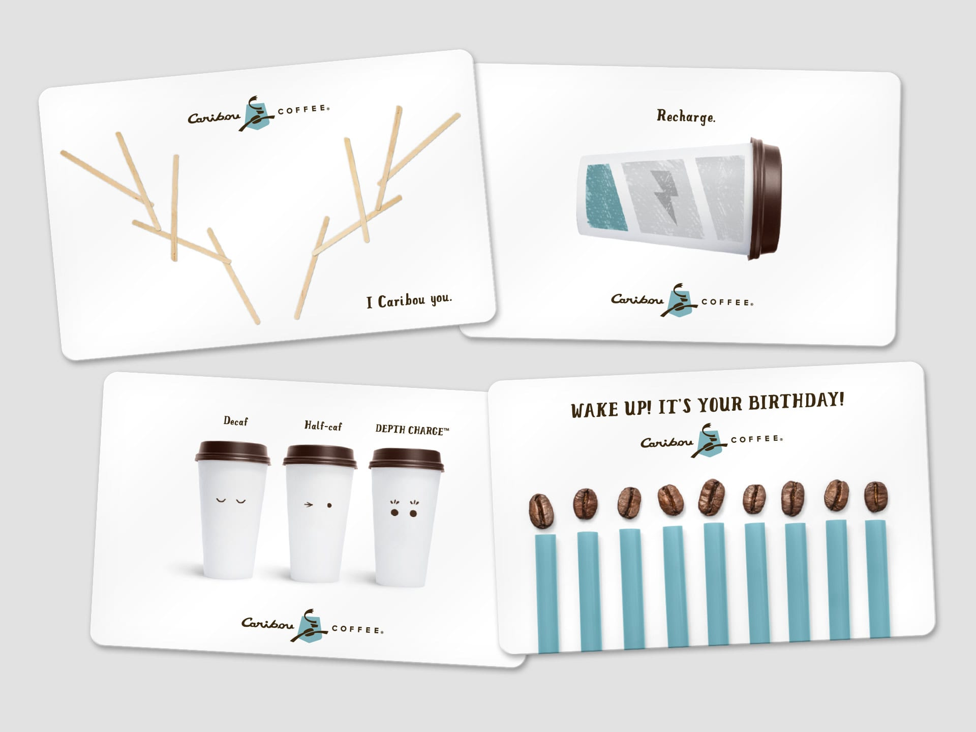 Caribou Gift Card Retouching Holiday 2015 Composition