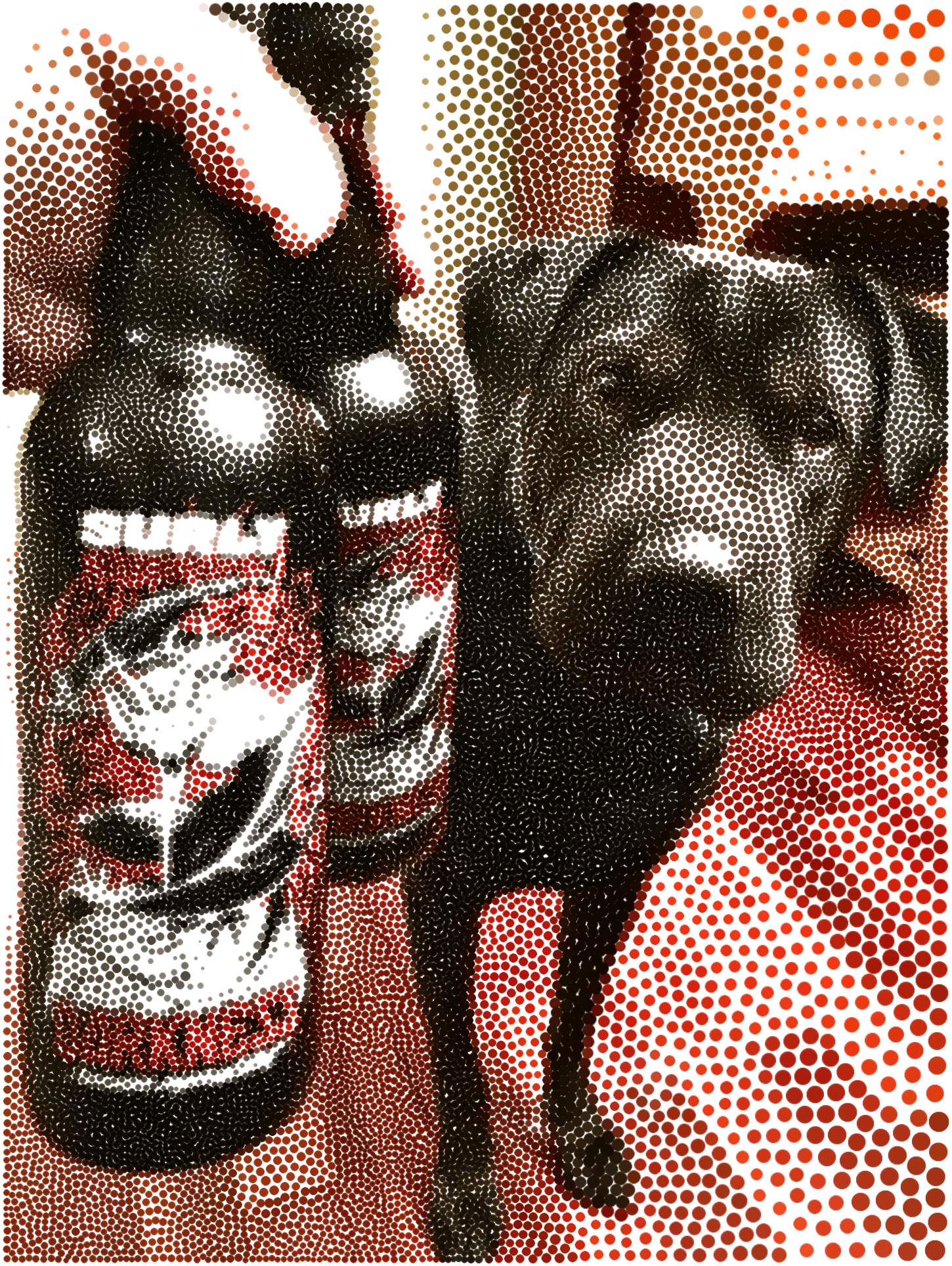 Stippled Surly & Hector
