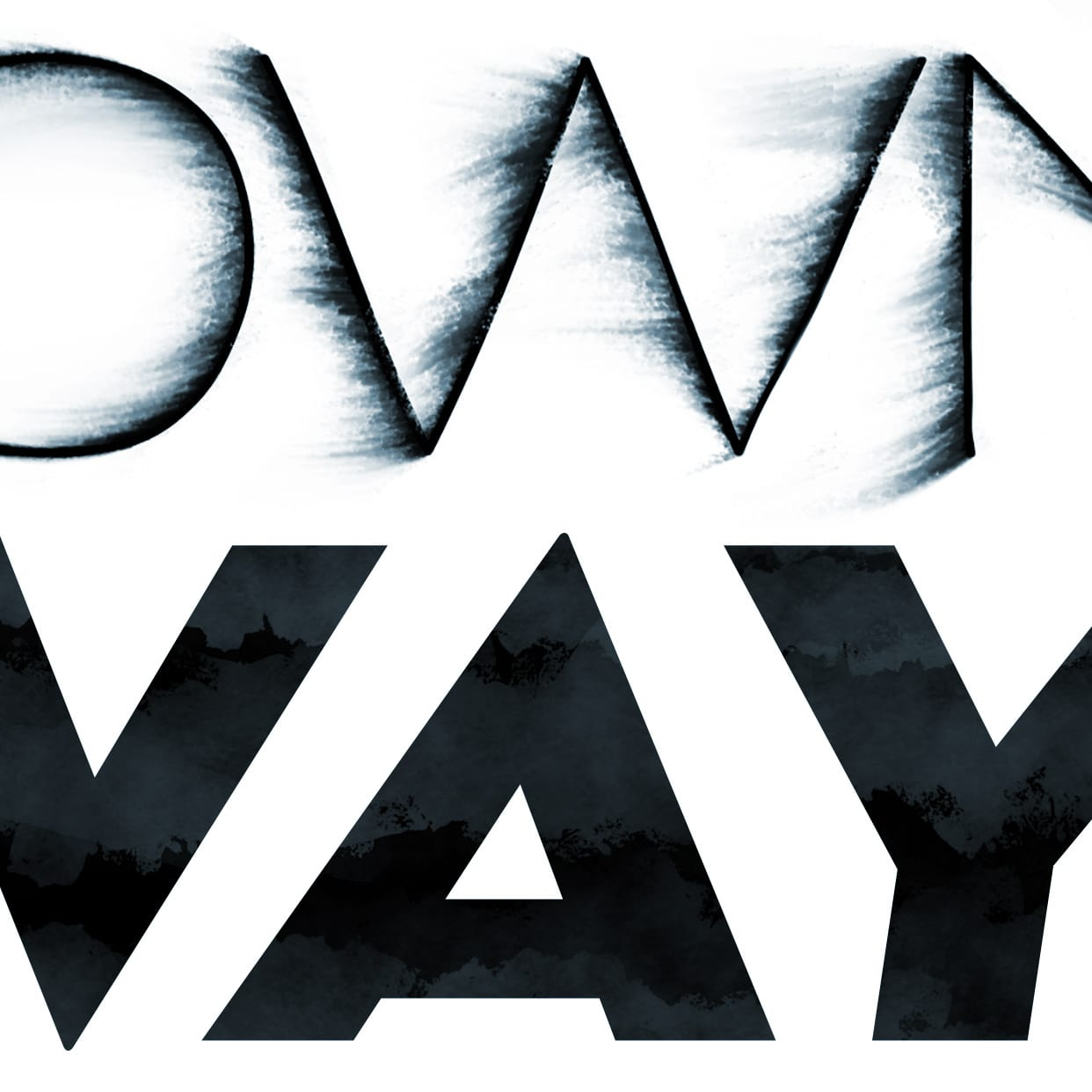 Blown Away Typographical Illustration Detail